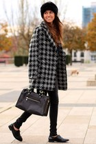 Mango coat - Mango shoes - Zara hat