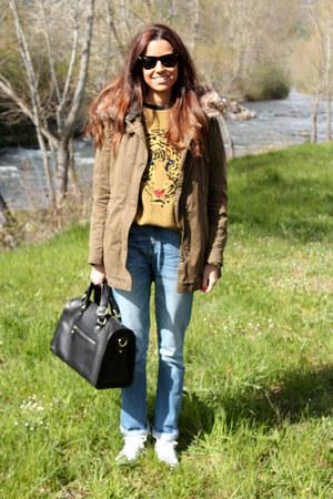 Zara coat - Levis jeans - Uterque bag - ray-ban sunglasses - Zara jumper