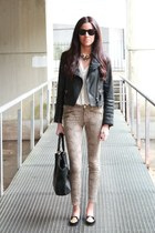 Zara jacket - rayban sunglasses - Zara pants - Zara flats