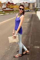 Zara shirt - Zara jeans - ray-ban sunglasses - exe sandals