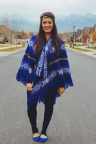 blue poncho Shop Said Kelley sweater