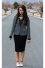 Navy-wolf-york-shirt-black-cotton-swell-skirt