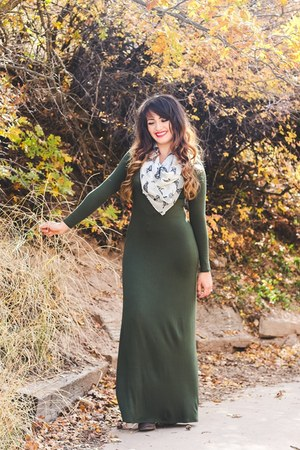 dark green maxi dress Sage by Olivia Wares dress