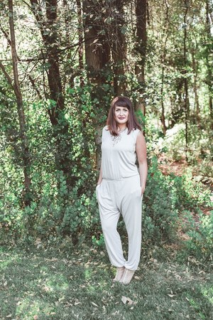 silver jumpsuit Lime and Vine jumper