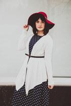 navy polka dot She Traveled dress