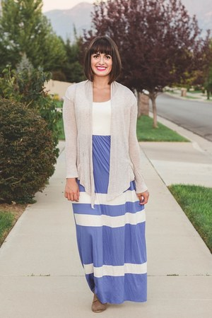 blue color block Pink Blush dress