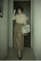 Zara hat - melie bianco bag - thrifted skirt