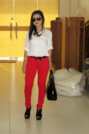 jeans - shirt - Charles & Keith heels