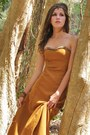 Mustard-home-made-dress