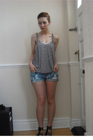 Topshop top - Firetrap shorts - Primark shoes