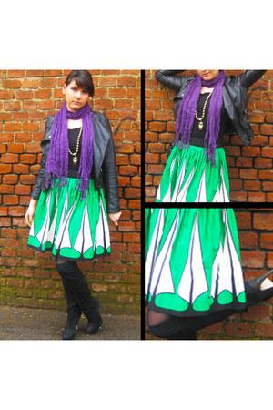 Topshop boots - Pimkie jacket - H&M top - Zara skirt