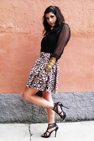 Zara skirt - H&M shirt - H&M heels
