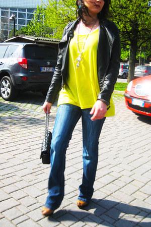 Stradivarius jeans - Pimkie jacket - Chanel bag - Zara heels - H&M top