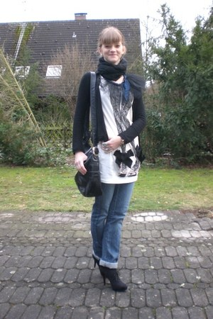 white Lanvin for H&M shirt - black vintage bag - black Deichmann heels