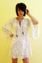 cotton lace DIY vintage materials dress