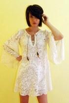 cotton lace DIY vintage materials dress