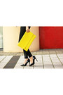 Black-miss-selfridge-leggings-yellow-boohoo-bag-black-primark-heels