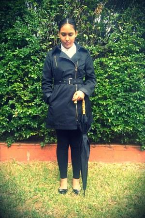 black Charles and Keith shoes - gray Michael Kors jacket