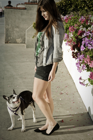 black Urban Outfitters shoes - black BDG shorts - green truly madly deeply shirt