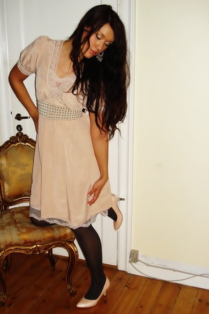 pink Saint Tropez dress - pink H&M shoes - pink H&M belt