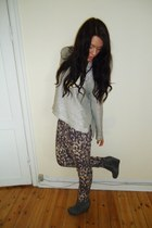 silver H&M sweater - heather gray H&M pants