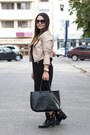 Leather-zara-boots-beige-takko-fashion-jacket-black-furla-bag