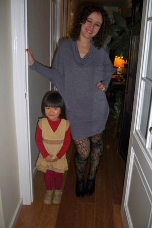 black Bimba y Lola shoes - Primark stockings - dress