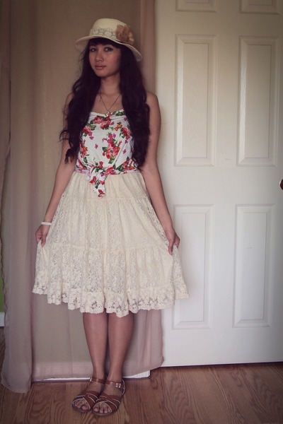 lace skirt skirt - floral print Styles top