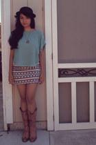 eggshell Nollie skirt - light brown cowgirl Aldo boots