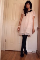 light pink Amercian Rag dress - black mary janes Charlotte Russe shoes