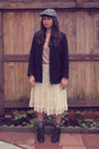 Black-merona-boots-black-old-navy-coat