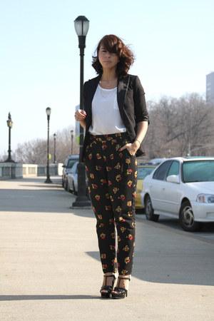 H&M blazer - Sparkle & Fade pants - YSL sandals