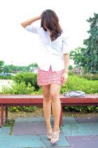 Gap shirt - Aqua skirt - Nine West shoes
