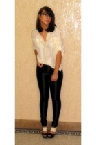 Victorias Secret blouse - American Apparel pants - BCBGgirls shoes