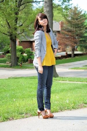 Zara blazer - Zara blouse - H&M jeans - Michael Kors shoes