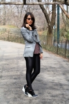 Zara blazer - lux uo top - American Apparel pants - BCBGgirls shoes