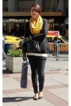 H&M blazer - Urban Outfitters scarf - Joies pants - Tous Les Jours shoes - Marc