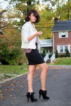 vintage jacket - American Apparel skirt - Colin Stuart boots