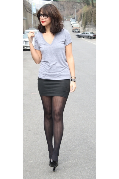 black American Apparel skirt - black Pour La Victoire shoes