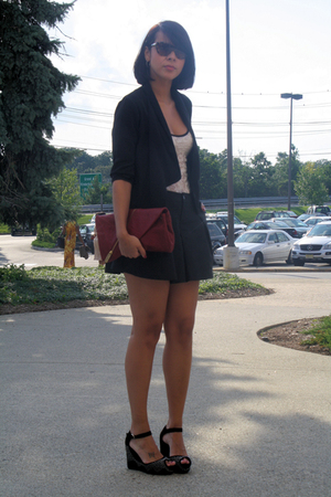 H&M blazer - vintage top - vintage shorts - Kooba - Jeffrey Campbell shoes