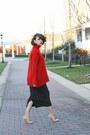 Red-zara-sweater-black-american-apparel-skirt-eggshell-aquazzura-pumps