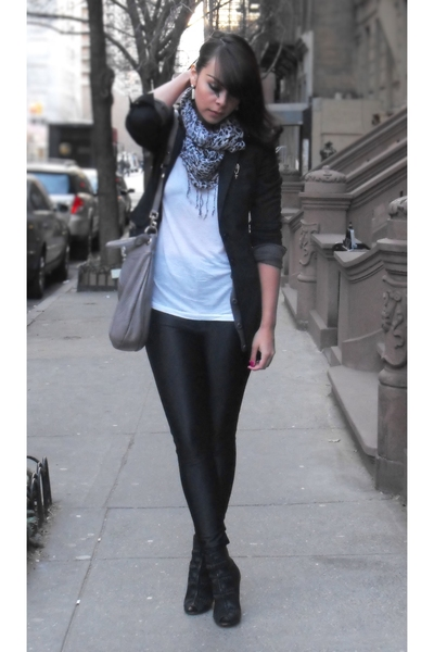Express blazer - H&M scarf - American Apparel pants - sam edelman - Marc by Marc