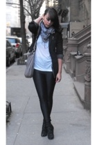 Express blazer - H&M scarf - American Apparel pants - sam edelman - Marc by Marc