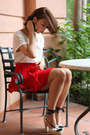 Ivory-gap-top-red-zara-skirt-ivory-espadrilles-pura-lopez-heels