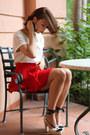 Ivory-gap-top-red-zara-skirt-ivory-espadrilles-pura-lopez-heels