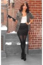 H&M jacket - H&M skirt - pour la victorie shoes