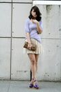 Purple-zara-t-shirt-beige-aqua-skirt-purple-marc-jacobs-shoes-brown-topsho