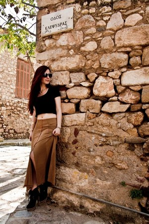 vintage skirt - BERSKA bag - vintage sunglasses - Accessorize necklace
