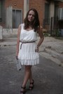 White-bershka-dress-off-white-random-brand-bag-light-brown-bershka-belt