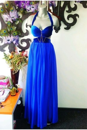 blue b no brand dress